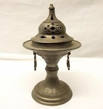 Antique French Spelter Incense Burner Censer Bowl Urn Trophy France Vtg Art Deco