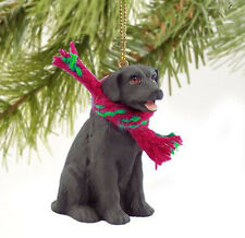 LAB LABRADOR RETRIEVER (CHOCOLATE) DOG CHRISTMAS ORNAMENT HOLIDAY Figurine Scarf