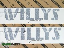 14-16 Jeep Wrangler WILLYS EDITION HOOD  DECAL STICKERS BLACK SET OF 2 NEW MOPAR