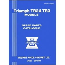 Triumph TR2 & TR3 Spare Parts Catalogue book paper car