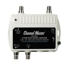 Channel Master 3412 Mini Distribution Multi-Media Drop Amplifier 2 Port CM3412