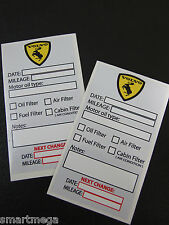 VOLVO Owner Oil Change Service Reminder Sticker - Set of 10 stickers