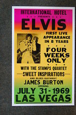 Elvis Tour Poster 1969 Las Vegas James Burton
