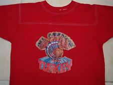 Vintage 80's All American Turkey Iron On Jersey Style T Shirt L