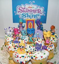 Nick Jr. Shimmer and Shine Cake Toppers Set of 17 Fun Figures and Genie Gems