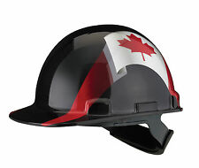 Hard hat with Canadian flag - Casque de construction avec drapeau Canadien
