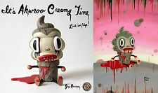"RARE!  Gary Baseman ""Ahwroo "" Creamy! with an EXCLUSIVE Signed Print  196 /200"