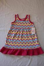 NEW Toddler Girls Sleeveless Dress 3T Party Outfit Pink Yellow Chevron Striped