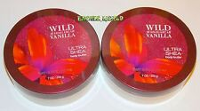 BATH AND BODY WORKS WILD MADAGASCAR VANILLA BODY BUTTER 7 OZ EACH (SET OF 2)