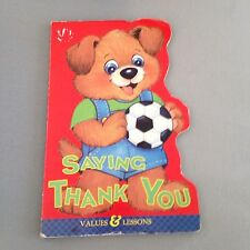SAYING THANK YOU VALUES BOARD BOOK