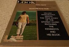 LOOK MAGAZINE April 4 1967 Cover photo Jackie Kennedy, Montreal Expo