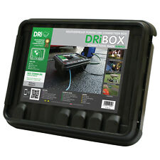 Dribox Large Black Weatherproof Box Outdoor Cable Connection Junction Protection