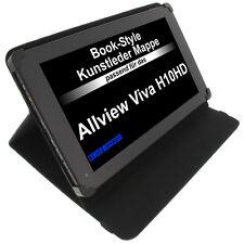 Housse pour Viva Allview H10 Style Livre étui de protection Tablet Case Noir