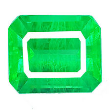 25.40 cts OCTAGON FACET COLOMBIAN GREEN EMERALD CHATHUM LAB CREATED