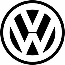 VW VOLKSWAGEN Logo Auto Adesivo Vinile Decalcomania GOLF PASSAT UK BUFFO REGALO HUMOR