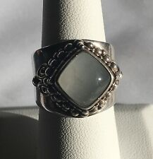 STUNNING SAJEN STERLING SILVER 925 MOONSTONE LARGE HEAVY RING SIZE 8 EUC! 15.2G