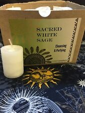 Sacred White Sage~Spiritual Votive Candles~Metaphysical~cleansing & Purifying