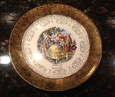 Sabin China Souvenir of Detroit Michigan Crest O Gold Plate