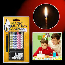 10X Prank Candle Magic Trick Relighting Candle Birthday Cake Party Gag Joke ESC