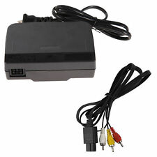 AC Power Adapter + Audio Video AV Cable Cord Wire COMBO For Nintendo 64 System