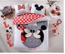 Disney Mickey Minnie Love is Cotton Bedding Set Quilt/Duvet Cover Set Full/Queen