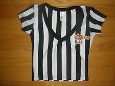NEW HOOTERS HALLOWEEN SEXY COSTUME STRETCHY REFEREE SHIRT/NEW STYLE SHORTS XXS