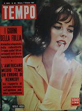 TEMPO N°40/ 07.OTT.1961 - NATALIE WOOD - MARIA PIA di SAVOIA e ALESSANDRO ...