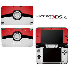 Vinyl Skin Decal Cover for Nintendo 3DS XL LL - Pokemon Pokeball