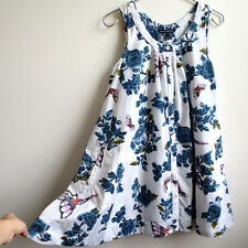 French Connection Tent Dress Small FCUK Cotton Pockets Floral Butterflies Sz 4