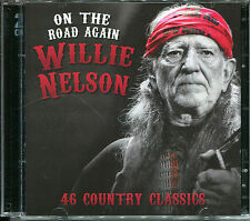 ON THE ROAD AGAIN WILLIE NELSON - 2 CD BOX SET - 46 COUNTRY CLASSICS
