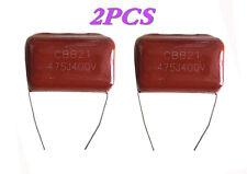 NEW! 2pcs Metal film capacitors CBB21 475J 4.7UF ±5% 400V P=31mm Good Quility!