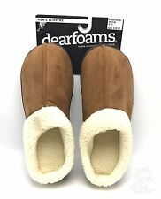 Men's Memory Foam Slippers Chestnut Clog Size M 9-10 Dearfoams New