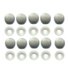 10 Grey License Plate Frame Screw Caps & Bolt Covers Motorcycle or Car
