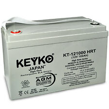 12V 100Ah SLA Deep Cycle High Rate Rechargeable  KEYKO  AGM Battery (T3)