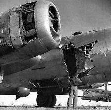 WWII B&W  Photo USAAF B-29 Superfortress Severe Damage  WW2  / 5157  NEW