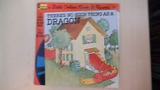 """Little Golden Book & Record THERE'S NO SUCH THING AS A DRAGON 7"""" 33rpm 1976"""
