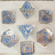 Q-Workshop Elven Transparent & Blue D&D Dungeons and Dragons Dice Set Game Dice
