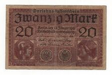 GERMANY 20 MARK 1918 PICK 57 LOOK SCANS