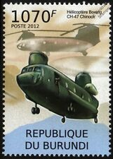 BOEING CH-47 CHINOOK Military / Army Transport Helicopter Aircraft Stamp