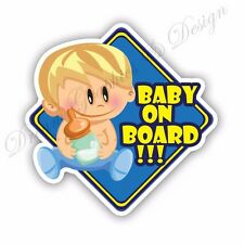 Baby on Board Full Color Adhesive Vinyl Sticker Window Car Bumper 013