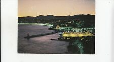BF22116 nice le port la baie des anges la nuit ship  france  front/back image