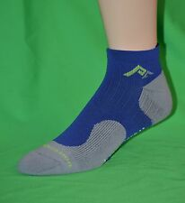 3 pr Men's Performance Athletic Low-Cut Compression Cycling Socks, Blue Sm/Md
