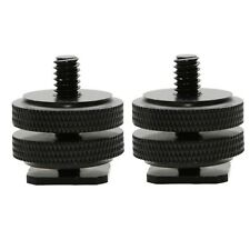"2 PCS 1/4""-20 ALL METAL Tripod Screw to Hot Shoe/Cold Shoe Adapter"