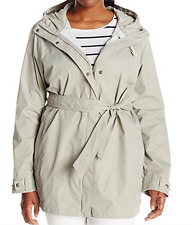 Columbia Women's Pardon My Trench Rain Jacket Plus Size, Flint Grey, 1X