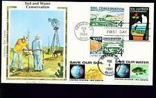 1984 FDC - Scott# 2074 COMBO - Soil & Water - Colorano Silk Cachet   UA