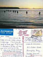1992 TROUT FISHING IN LAKE TAUPO NEW ZEALAND COLOUR POSTCARD