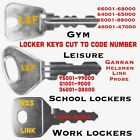 LOCKER KEYS CUT TO CODE - WORK,GYM,SCHOOL,OFFICE