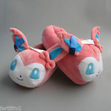 Pokemon Sylveon Soft Plush Slippers Cosplay Anime Toy Warm Indoor Home Shoes