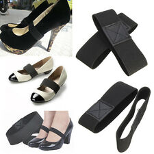 Black Elastic Shoe Strap Lace Band For Banquet Loose High Heeled Shoes Dancing