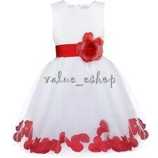 Mädchen Sommerkleid Fest Kommunions Hochzeit Kinder Festlich Partie Abendkleider